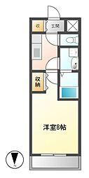ラッフル仲田[5階]の間取り
