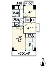 カーサ薬師寺[3階]の間取り