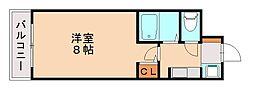 ヒルズ西赤坂[4階]の間取り