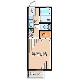 エリートハイツ[2階]の間取り