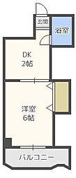 第2博多駅東コーポ[1階]の間取り
