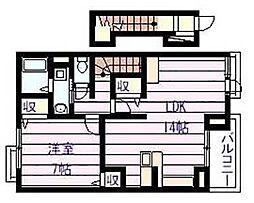 カーサアリエッタ[2階]の間取り