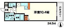 サン守口[4階]の間取り