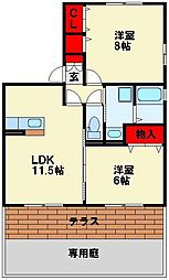 ロンドベル[1階]の間取り