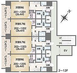 FG城東京橋I 蒲生1 京橋4分[5階]の間取り