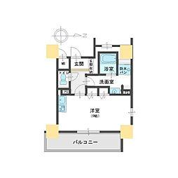 レジェンドール大阪天満Gレジデンス[12階]の間取り