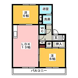 T・Yハイツ[2階]の間取り