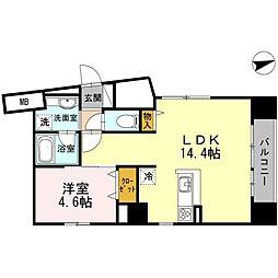 神奈川県横浜市中区本郷町2丁目の賃貸マンションの間取り