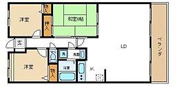 サンセール菊[8階]の間取り