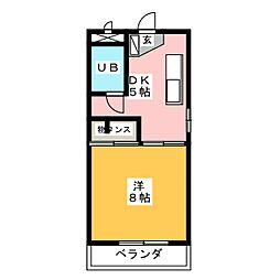ユングハイム山野田[3階]の間取り