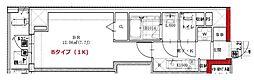 東京メトロ有楽町線 月島駅 徒歩2分の賃貸マンション 6階1Kの間取り