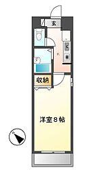 ジョバネ藤原[7階]の間取り