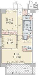 プレスタイル箱崎ステーション[9階]の間取り