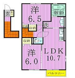エンゼルハイムI[2階]の間取り