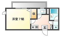 神奈川県川崎市高津区下作延の賃貸マンションの間取り