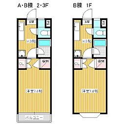 グレースフル芳川A・B[2階]の間取り