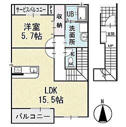 アンサンブル 2階[202号室]の間取り