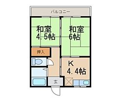 畑口住宅[1-2号室]の間取り