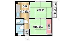 後藤マンション[202号室]の間取り