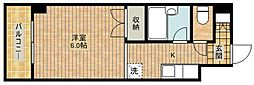 神奈川県川崎市中原区下小田中5丁目の賃貸マンションの間取り