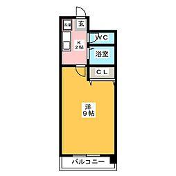 デジュール箱崎[6階]の間取り