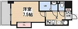 Luxe花園 12階1Kの間取り