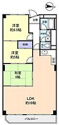 京成サンコーポ勝田台A棟[10階]の間取り
