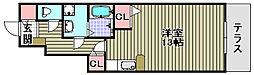 ルチャーマ2B棟[102号室]の間取り