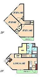 兵庫県神戸市垂水区名谷町字北野屋敷の賃貸マンションの間取り