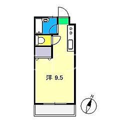 コーポMIKI I[2階]の間取り