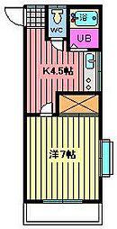 コーポグリーンヒル[2階]の間取り