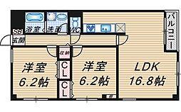 アベニール桜塚[301号室]の間取り