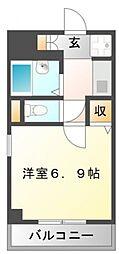 サンイースト江坂[3階]の間取り