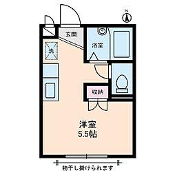 ユーハイツ[2階]の間取り
