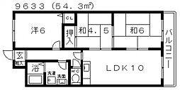 パラストオカザワ[4C号室号室]の間取り