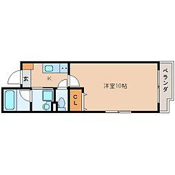 JR東海道本線 静岡駅 徒歩18分の賃貸マンション 2階1Kの間取り