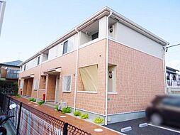 神奈川県茅ヶ崎市赤羽根の賃貸アパートの外観