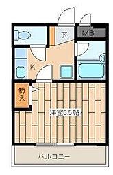 サザンコート[1階]の間取り