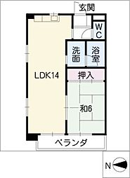 ファインアート川口[4階]の間取り