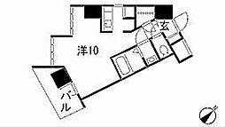 愛知県名古屋市中区大井町の賃貸マンションの間取り
