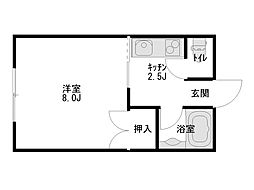 エクセルシャトー高松[103号室]の間取り
