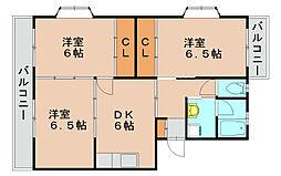 福岡県福岡市東区郷口町の賃貸マンションの間取り