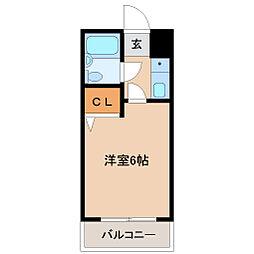 プレステージ横田[4階]の間取り