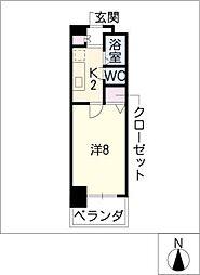 CK錦レジデンス[6階]の間取り