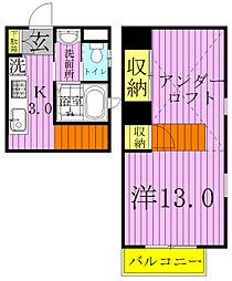 アパートメントKASAIII[102号室]の間取り