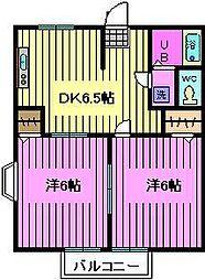 埼玉県さいたま市緑区松木3丁目の賃貸アパートの間取り