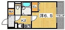 ブライティーミル[3階]の間取り