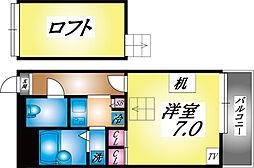 兵庫県神戸市灘区新在家南町5丁目の賃貸マンションの間取り