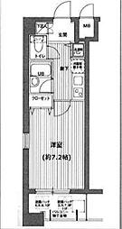 ガラステージ京橋[8F号室]の間取り