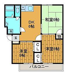 ボナール町田A[3階]の間取り